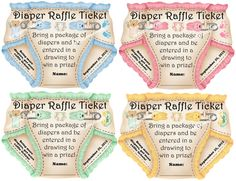 Diaper Raffle Ticket Inserts 2 Unique baby shower diaper raffle ticket baby shower game [] - $6.99 : Party Games & More, Party Games & More