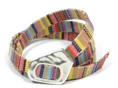 pastel bracelet * ethnic wrap bracelet * surfer girl fabric bracelet * pastel colors aztec fabric * gifts for teens * ethnic jewelry by CozyDetailz on Etsy