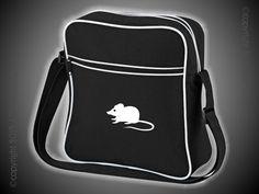 Retro Flight Bag schwarz/weiß mit Motiv/Spruch von Jajis-ART auf DaWanda.com