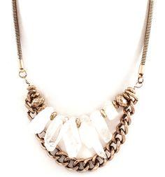 Natural Quartz Nella Necklace on Emma Stine Limited