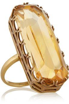 Fred Leighton 1940s 18-karat gold citrine ring | NET-A-PORTER