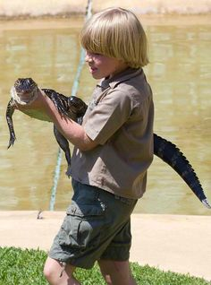Like father, like son: Young Robert (Bob Jnr) looks the spitting image of his father, Crocodile Hunter, Steve Irwin Terri Irwin, Steve Irwin, Irwin Family, Crocodile Hunter, Bindi Irwin, Pet News, Important People, Animals For Kids, Sons
