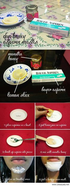 Máscaras aspirina miel DIY