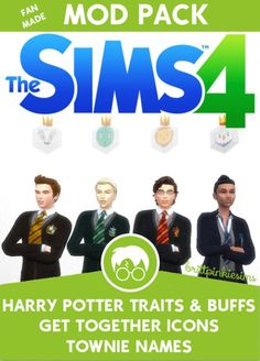 "brittpinkiesims (my Sims 4 ""alter ego"") has created a mod pack for Harry Potter fans!"