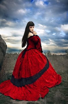 Gothic Wedding Gown and Cape Steampunk Medieval Renaissance Custom. $1,250.00, via Etsy.