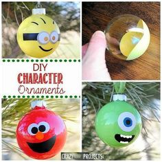 Character christmas baubles