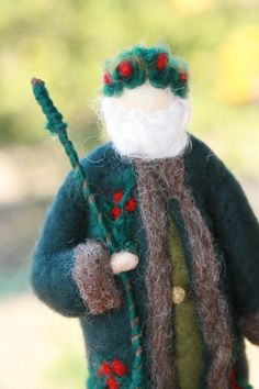 Needle felted Holly King