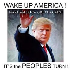 "It's the PEOPLES turn!! I've heard many family and friends say, "" we need to elect someone who is not a career politician! "" Well, here ya go! stop supporting your BS party!!! Trump2016"