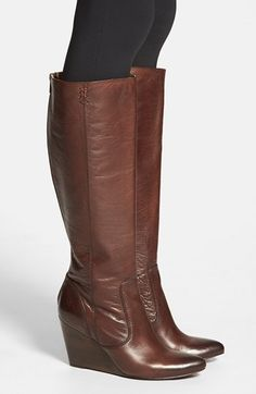 Would love these in black!!! Frye 'Regina' Wedge Boot