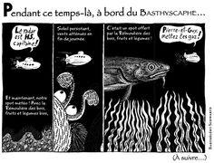 Publiée dans le Bathyscaphe n°10 (printemps 2014). Strip n°5.