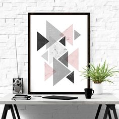 Geometric Print Triangle Print Printable by ILovePrintable on Etsy