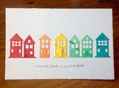 """""""Brevilla Houses"""" von Poppystamps, """"viel Glück"""" von Alexandra Renke"""