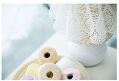 Aliexpress.com: Compre O envio gratuito de 40 g Boutique clássico 5 # rendas pérola brilho série shuttle Crochet algodão macio rival linha de tricô fio fita fio de confiança cera de algodão fornecedores em DIY & HOME
