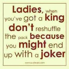 Don't reshuffle the pack when you've already got a king.