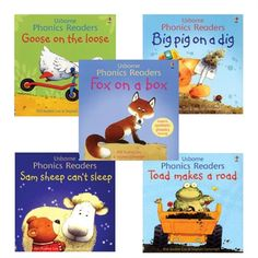 Usborne makes incredible books!! I need these for my 2.5 year old. Usborne Phonics Readers Set - Timberdoodle - Beginning Readers #timberdoodle