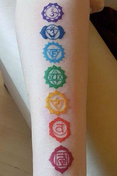 chakra tattoo on arm . Take a look at Yoga Tattoos, Spine Tattoos, Tattoo On, Back Tattoos, Mandala Tattoo, Body Art Tattoos, New Tattoos, Piercing Tattoo, Girly Tattoos