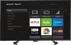 "Popular on Best Buy : Sharp - 50"" Class (49.5"" Diag.) - LED - 1080p - Smart - HDTV Roku TV"