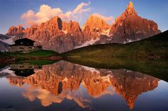 Pala Reflection (o)  Baita Segantini and the Pale di San Martino group, near San Martino di Castrozza Dolomiti Italy Photo (c) by Jack Brauer