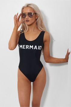 Black Mermaid Swimsuit #beachoutfitswomen