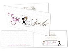 besondere+Hochzeitskarten+-+Süßes+Pärchen