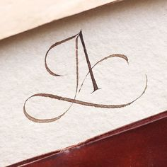 Calligraphy letter A with swirls Copperplate Calligraphy, Calligraphy Words, Calligraphy Handwriting, Modern Calligraphy, Cursive, Penmanship, Hand Lettering Alphabet, Typography Letters, Creative Lettering