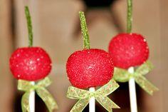 Cherry cake pops
