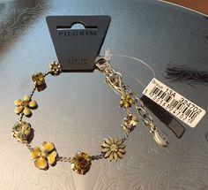 PiIgrim Yellow Daisy Bracelet NWT #PilgrimDanishDesign #Chain
