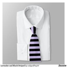 Shop Lavender and Black Striped Neck Tie created by Personalize it with photos & text or purchase as is! Wedding Color Schemes, Wedding Colors, Pink And White Stripes, Custom Ties, Unique Image, Night Out, Neckties, Pattern, Prints