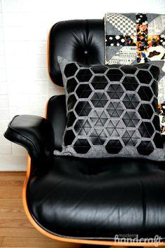 Fabric Fuse Modern Hexagon Pillow Tutorial