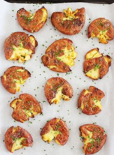 These scrumptious salt and vinegar smashed potatoes will be a huge hit at your next gathering.