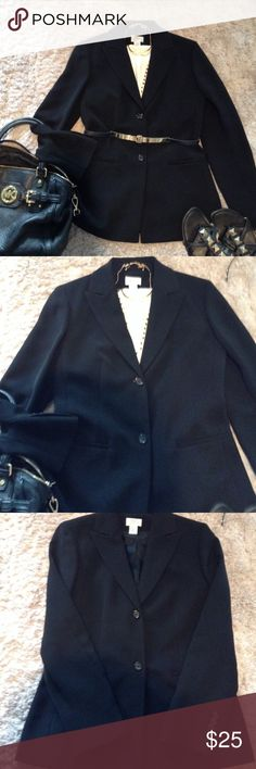 Ann Taylor  LOFT blazer Great condition Ann Taylor black blazer!  Two button closure!  Classic piece for any women's closet! Ann Taylor Jackets & Coats Blazers