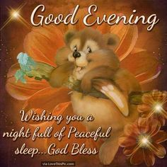 Good Evening Wishing You A Night Full Of Peaceful Sleep