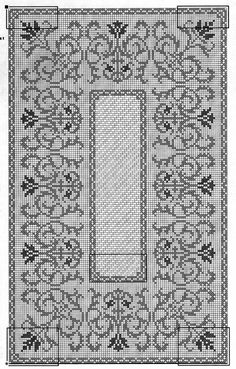 @nika Cross Stitch Borders, Cross Stitching, Cross Stitch Embroidery, Hand Embroidery, Crochet Table Runner, Crochet Tablecloth, Crochet Doilies, Crochet Diagram, Crochet Patterns