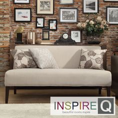 The Kayla Armless Mini Sofa is covered in elegant grey upholstery that will brighten up the look of your living room. This contemporary sofa is finished with espresso-colored legs. Mini Sofa, Contemporary Sofa, Grey Upholstery, Cool Couches, End Of Bed Sofa, Sofa Inspiration, Formal Living Rooms, Bedroom Design, Armless Sofa