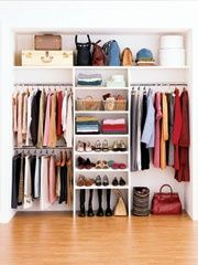Master Bedroom - closet organization secrets. good idea