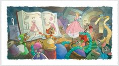"""""""Sew Beautiful"""" by Toby Bluth for Disney Fine Art"""