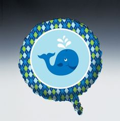 Metallic party balloons feature a vibrant colored boy theme whale design. These fun party balloons have the design on both sides and enhance the party atmosphere. 1st Birthday Party Supplies, Birthday Themes For Boys, Baby Shower Party Supplies, 1st Boy Birthday, 1st Birthday Parties, Baby Shower Parties, Baby Showers, Birthday Ideas, Whale Party