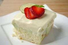 Key Lime Cake - This recipe makes a delicious and tangy cake.