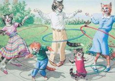 Hula Hoop Cats  http://memehumor.tumblr.com