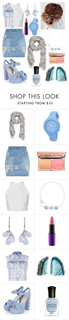 """Sunshine: powder blue"" by darellecourtney ❤ liked on Polyvore featuring Rip Curl, BillyTheTree, Ten Thousand Things, MAC Cosmetics, Topshop, BaubleBar and Deborah Lippmann"