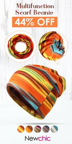 Women Cotton Stripe Beanie Casual Outdoor Windproof Hats For Both Cap And  Scarf Use  hats fb31ee6d756