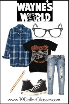 Party On, Garth! With this Wayne's World Garth costume it will be Party Time! Excellent! Featuring College glasses.