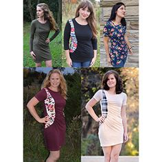 Go unique in the Sassy Side Top and Dress! Choose from three sleeve lengths (short, 3/4 and long sleeves) with a gorgeous ruched panel that sweeps to the side! A completely new and flattering look! Make something fabulous for YOU!