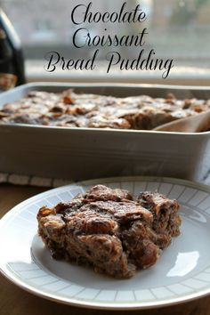 Fluffy, chocolaty, buttery, and rich, Chocolate Croissant Bread Pudding is so much amazingness.