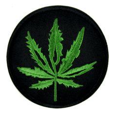 Cannabis Pot Leaf Patch Iron On Applique Alternative Clothing Marijuana