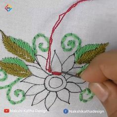 Hand Embroidery Flower Designs, Hand Embroidery Patterns Flowers, Ribbon Embroidery Tutorial, Hand Embroidery Projects, Basic Embroidery Stitches, Hand Embroidery Videos, Creative Embroidery, Crewel Embroidery, Embroidery Supplies