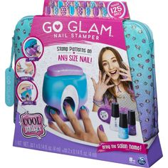 Cool Maker Go Glam nail stamper is the ultimate at-home nail kit to easily stamp and style custom manicures in minutes! Slumber Party Activities, Fun Activities, Glam Nails, Fancy Nails, Claire's Nails, Cool Maker, Spin, Unicorn Nails Designs, Nail Printer