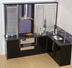 miniature kitchen in black | Flickr - Photo Sharing!