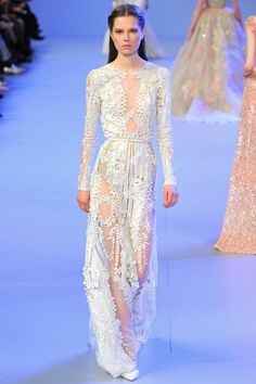 Haymes - Head Space Theme - Worn White - Elie Saab | Spring 2014 Couture Collection