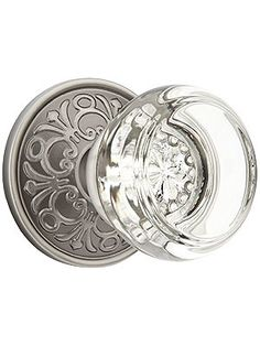 Lancaster Door Set With Georgetown Crystal Glass Knobs | House of Antique Hardware